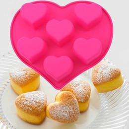 2019 moldes de dinosaurio Envío Gratis Herramientas Para Hornear Moldes Para Hornear Pasteles Molde Tiramisu Cake Heart With Love Design Molde Para Torta de Silicona