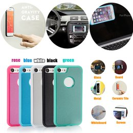 Wholesale Iphone 5s Apple Case New - New 2nd Generation Anti Gravity Selfie Magical Nano Sticky Antigravity Wall Case Cover For iPhone X 8 7 Plus 6S 5S Samsung S7 S6 edge Note 8