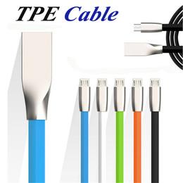 Kostenlos apfel usb-kabel online-Micro usb kabel 1 mt 3,3 ft rautenförmigen rhombus tpe kabel verwickeln freies zink-legierung stecker usb 2.0 sync datenkabel für android smartphone cab150