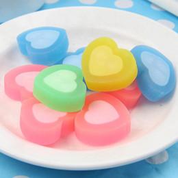 Wholesale Kawaii Heart - Kawaii 5 Pcs   Lot Cute Colorful Heart Shape Rubber Eraser Cartoon School Office Stationery For Kids Stationery Cute Prize Gifts Free Shippi