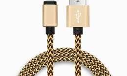 Wholesale Data Cable Charger For Ipad - 1M 2m 3m nylon durable thick Twist Braided USB Cable for iPhone 7 5 6 6S iPad for android Data Sync fast Charger cable 100pcs