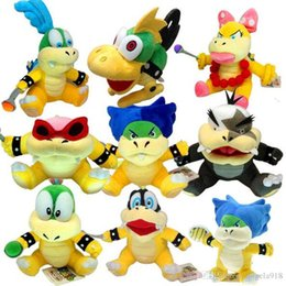 Wholesale Koopalings Mario Bros - Big Monster King Koopa Jr. 7-8 inch Super Mario Bros Bowser Koopalings Plush Toy EMS shipping E1920