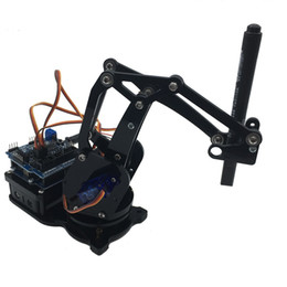Wholesale Ivolador DIY Robotic Arm kit Axis Servo Control Funnyarm with Wired Controller for Arduino Uno R3