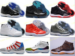 Wholesale Football Moon - Retro 11 Basketball Shoes Men Women Legend Blue Gamma 72-10 Toro Bred Chocolates Space Jam 11s Concords XI Moon Landing US 5.5-13