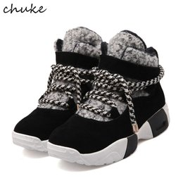 Wholesale ventilating lace - Winter New Shoes Thick Bottom Student Sport Shoes With Inner Plush Wram Ventilate Casual Shoes Comfortable For Female