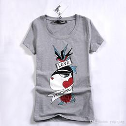 Wholesale Shirt Bird - 2017 New Fashion T-shirt Women Bird Printing T Shirt Women Tops Casual Brand Tee Shirt Femme Woman Clothing