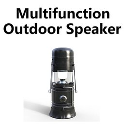 Wholesale Outdoor Charging - Multifunction Outdoor Bluetooth Speaker Portable Wireless Bluetooth Speaker With Lantern And Torch Subwoofer For Phone VS Charge 3 Charge 2+