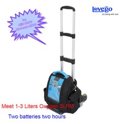 Wholesale Portable Oxygen Concentrator Batteries - 5LPM Portable Oxygen Concentrator with two batteries for car travel home use  With two years warranty Free shipping by fast express