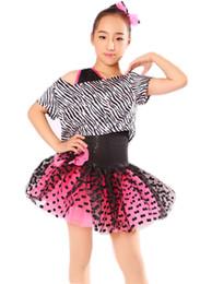 Wholesale Gymnastics Leotards For Girls - gymnastics leotard for girls ballet tutu Dance skirt fashion piece zebra oblique ballet skirt clothes and costumes 1529