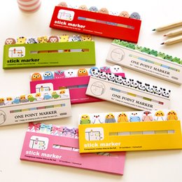Wholesale School Supplies For Kids Wholesale - Wholesale- Kawaii Japanese Post It Scrapbooking Scrapbook Stickers Sticky Notes School Office Supplies Stationery Page Flags For Kids