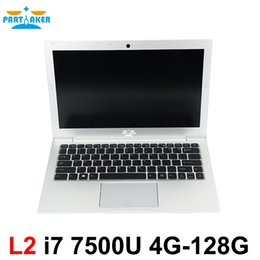 Wholesale Ultrabook I7 - Partaker L2 Win10 Laptop Computer Notebook PC 13.3 Inch Core I7 7500U 8G Ram 256G SSD Backlit Keyboard 1920*1080 Ultrabook