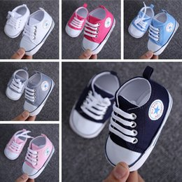 Wholesale Cheap Infant Walking Shoes - Candy color canvas soft floor leisure school toddler shoes 2017 spring lace indoor walking stumble infant cheap prewalker L143