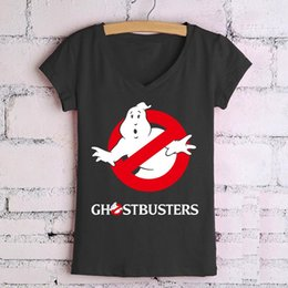 Wholesale Cheap Animal Tee Shirts - Wholesale- New Cheap Swag Tops Tees Cotton Crew Neck T Shirts Women Ghostbusters Camisetas Graphic Woman Clothing Short Sleeve S-XXL