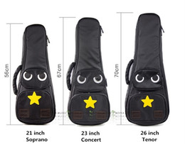 Wholesale Waterproof Gig Bag - Free shipping High quality Fashion design owl pattern 21  23   26 inch Super thick with cotton 15mm Waterproof fabric ukulele bag backpack