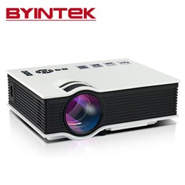 Wholesale Micro Proyector - Wholesale-2016 BYINTEK Hotsale Home Theater Mini Portable HDMI USB LCD LED Video Micro Projector HD 1080P Proyector Projector