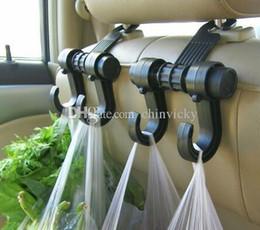Wholesale Car Bag Hooks - Delicate 2Pcs lot Car multi - functional Shopping Bag Holder Seat Hook Hanger Car Truck Bags Organizer Hook