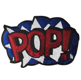 Wholesale Free Sewing Pattern - free shipping pop patches for sewing embroidery with sequins pop pattern applique clothing patches sewing accessories patchwork