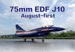Wholesale Model Kit Jet - Wholesale- HSD J10 75MM EDF jet RC fighter J-10 PNP and kit EPO material,radio control model