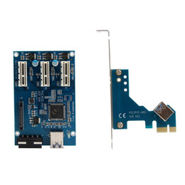 Scheda hub pci online-Freeshipping PCI-e Express da 1X a 3 porte Switch 1X Moltiplicatore HUB Riser Card Cavo USB Scheda PCI di alta qualità Stock Retail Package Gift # 201