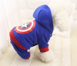 Wholesale Pet Fleece Sweater - New Fleece Pet Cat Dog Cartoon Costume Warm Winter Dogs Coat Jacket Cute Pet Four Leg Jumpsuit Hoodies Clothing For Dogs