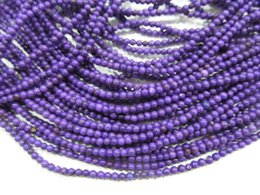 Wholesale Turquoise Round Cabochon - 25%OFF--2strands 2-20mm Howlite Turquoise Cabochon Round Ball Purple Assorted Turquoise Stone