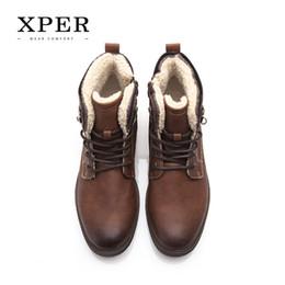 Wholesale Wholesale Men Boots - XPER Brand Men Shoes Fall Winter Men Boots Fashion Vintage Style Male Motorcycle Shoes High-Cut Men Casual Shoes #XHY12511BR