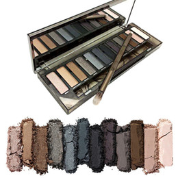 Wholesale Eye Shadows Makeup - HOT Makeup Eye Shadow NUDE Smoky Palette 12 Color Eyeshadow Palette 12*1.3g High quality DHL Free shipping+GIFT