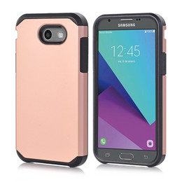 Wholesale Slim Cell - For Samsung Galaxy J3 2017 J7 Prime J310 S8 Plus A510 Slim Armor Hard Case Shockproof Hybrid PC + TPU Shockproof Cover Skin Cell Phone 50pcs