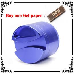 Wholesale Big Roll Paper - 1PC 75mm Grinders Aluminium Alloy Herb Grinders Buy one Get Rolling paper Grinder Big Grinder OEM Logo VS Phoenician Grinder