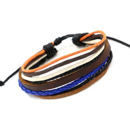 Wholesale Mutilayer Braid Leather Bracelet - Factory Promotion!Mutilayer Braided Leather Handmade Bracelet Colorful Infinity Bracelets for Women PU Rope Charm Bracelets for Men