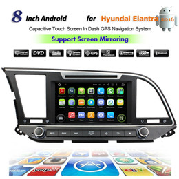 """Wholesale Hyundai Android Head Unit - Quad Core Android car dvd player For 8"""" HYUNDAI ELANTRA 2016 2017 with gps bluetooth wifi map,car head unit PC radio stereo,support DVR 3G"""