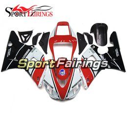 Wholesale 98 R1 - Red White Black Injection Fairings For Yamaha YZF 1000 R1 Year 98 99 1998 1999 ABS Plastic Motorcycle Fairing Kit Bodywork