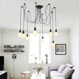 Wholesale Diy Ceiling Pendant - ceiling pendant led light led chandelier pendant lighting holder group Edison diy lighting lamps lanterns accessories messenger wire