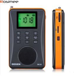 Wholesale Degen Dsp Radio - Wholesale-Dynamic Fashion Stereo DEGEN DE26 MW.SW DSP Digital Receiver FM USB radio with MP3 Player Digital Audio MP3 Card Full Band