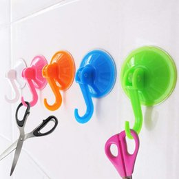 Wholesale Hooks For Bathrooms - Strong vacuum suction hook key towel household hanger suction sucker door kitchen bathroom vacuum hooks organizer for bags clothing (Color:
