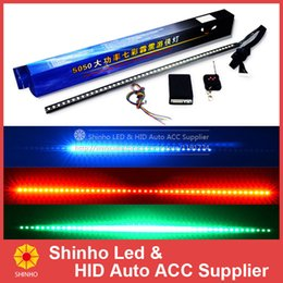 Wholesale Led Strip Light Knight Rider - 48 7color 130model 56cm 5050 48 RGB Car Light Knight Rider Car LED Strip Light Kit with Remote Controller