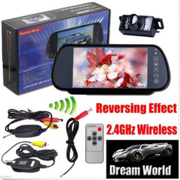 "Wholesale Reverse Camera Wireless System - Wireless Car Rear View PARKING System Backup Reverse Camera+7"" TFT LCD Monitor"