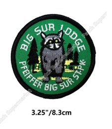Wholesale Big Parking - Travel Souvenir Patches Big Sur Lodge Pfeiffer State Park California Embroidered Iron On badge wappen clothing Outdoor bag