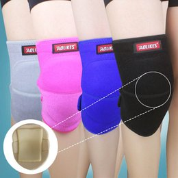 Wholesale Dance Pad For Pc - Wholesale- AOLIKES 1 Pcs Volleyball knee pads thicker sponge sports support kneepads for basketball dance joelheira rodilleras protector