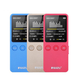 """Wholesale Bluetooth Watch Mp4 Player - Wholesale- New Speaker 1.8"""" 8GB MP4 Player Slim Video Radio FM player For 64GB Micro SD TF Card Music Playing times 200 hours RUIZU X08"""