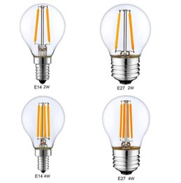 шаровая лампа с регулируемой яркостью Скидка Dimmable E14 E27 G45 ретро светодиодные накаливания света Глобус лампа 2 Вт 4 Вт Edison старинные ампулы светодиодные лампы 220 В 110 в крытый освещение