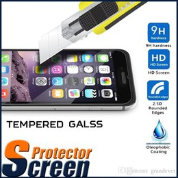 Wholesale Iphone Screen Guards - Tempered Glass Screen Protector Film Guard 9H Explosion Premium Scratch Resistant For iPhone 7 Plus 6 6S SE 5S 5 Samsung S8 S7 Edge Note 5
