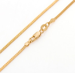 Wholesale Gold 2mm - 60cm long yellow gold plated Miami cuban snake chain for men women 24 inches 2mm 5g thin long gold necklace & pendant