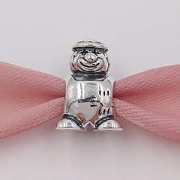 Wholesale sterling silver necklace for beads - Authentic 925 Sterling Silver Beads Clown Bead Fits European Pandora Style Jewelry Charms Bracelets & Necklace for jewelry making 790397
