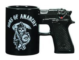Wholesale Glazed Ceramic Coffee Mug - Wholesale- A Sons of Anarchy Gun Mug Ceramic Coffee Cup Glaze Cup Creative Gift Cup