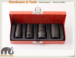 Wholesale wrench sets - 1 2in Dr. 4pc Emergency Locking Wheel Nut   Bolt Remover Set: 17-18.5-21.5-26mm