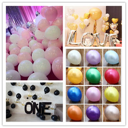 Wholesale Red Pearl G - 100pcs 12 inch 2.8 g Christmas Red green balloon decoration round pearl latex balloons Mixed color balloons free shipping party balloons