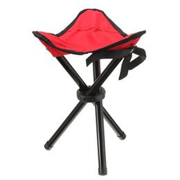 Wholesale Garden Chair Folding - Outdoor Portable Lightweight Camping Hiking Fishing Folding Picnic Garden BBQ Stool Tripod Three Feet Chair Seat