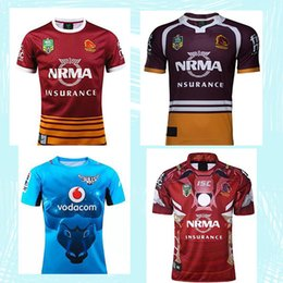 Wholesale High National - Free shipping!NRL National Rugby League Brisbane red new jersey High-temperature heat transfer printing jersey 2017 Super Rugby