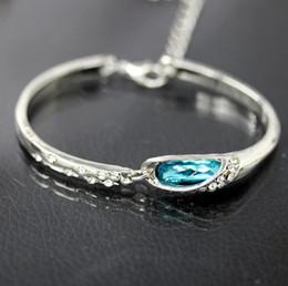 Canada Bracelet en cristal autrichien argent plaqué style coréen bracelet en cristal élégant Lady bracelets bijoux pour les femmes filles Offre